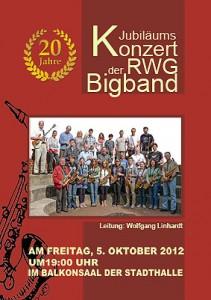 Jubiläumskonzert der RWG-Bigband