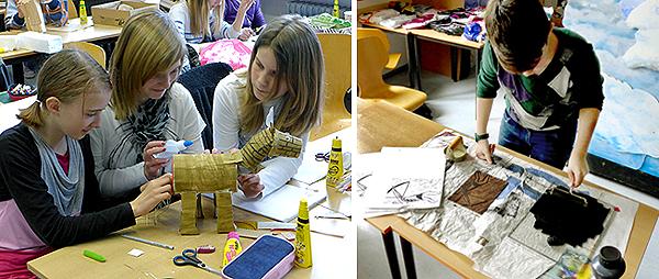 Der Kunstunterricht fördert Kreativität und handwerkliches Können - nur wer weiß, wie es geht, kann seine Ideen umsetzen.
