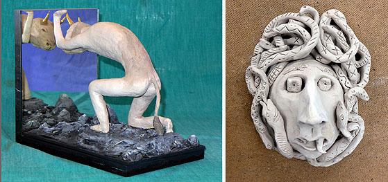Motive aus der klassischen Mythologie waren ein Thema der Kunstpausen.