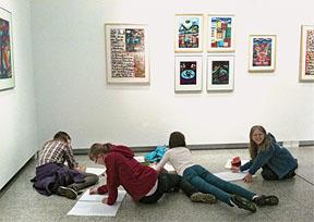 Schüler der 5. Klassen besuchen das Bayreuther Kunstmuseum