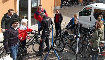 Der Bike-Check zum Auftakt der Fahrradsaison war kostenlos.