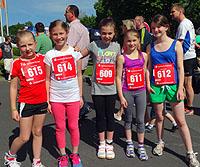 Einige der RWG-Teilnehmerinnen am Fun Run