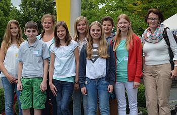 Die Teilnehmer am Begabtenkurs mit ihrer Bereuerin Sabine Fröber (rechts)