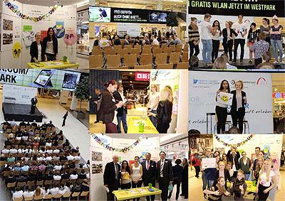 Die Präsentation fand im Ingolstädter Einkaufszentrum statt.