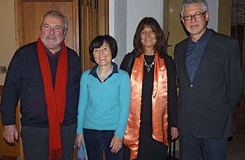 Den Vorstand bilden (von links) Horst Anclam (Schriftführer), Hiltrud Kröber (Vorsitzende), Angelika Rast (2. Vorsitzende) und Dr. Harald Franz (Schatzmeister).