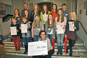 """Das RWG erhielt 2015 einen Schulpreis bei """"Jugend forscht""""."""