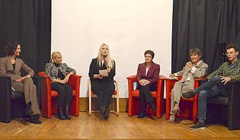 Die Diskussionsteilnehmer sprachen über ihre Erfahrungen mit dem SWG-Zweig.