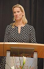 Sandra Reim hielt die Jubiläumsrede.