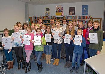 Die Teilnehmer wurden mit einer Urkunde und Preisen belohnt.