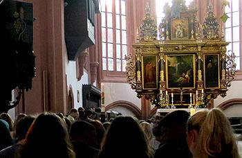 Der Gottesdienst war in der Stadtkirche