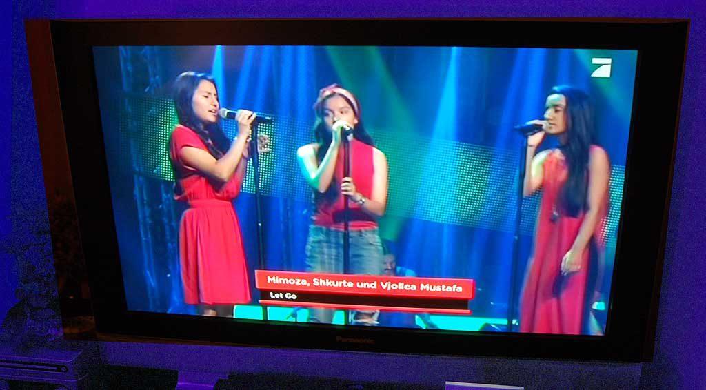 Schön anzuhören und schön anzuschauen - die Mustafa-Schwestern beim Casting-Wettbewerb.