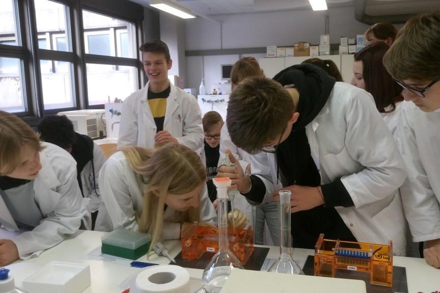Bilinguales Praktikum im Demonstrationslabor Bio-/Gentechnik der Universität Bayreuth