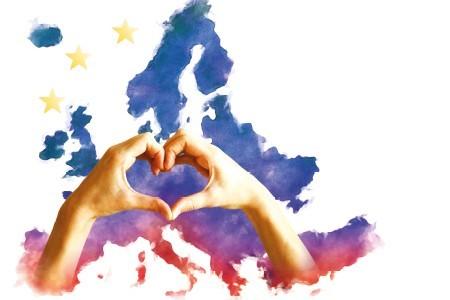 Europa mit Herz